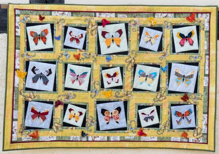 Quilt 2 – Geflatter – Petra Ruschig (Straußberg)