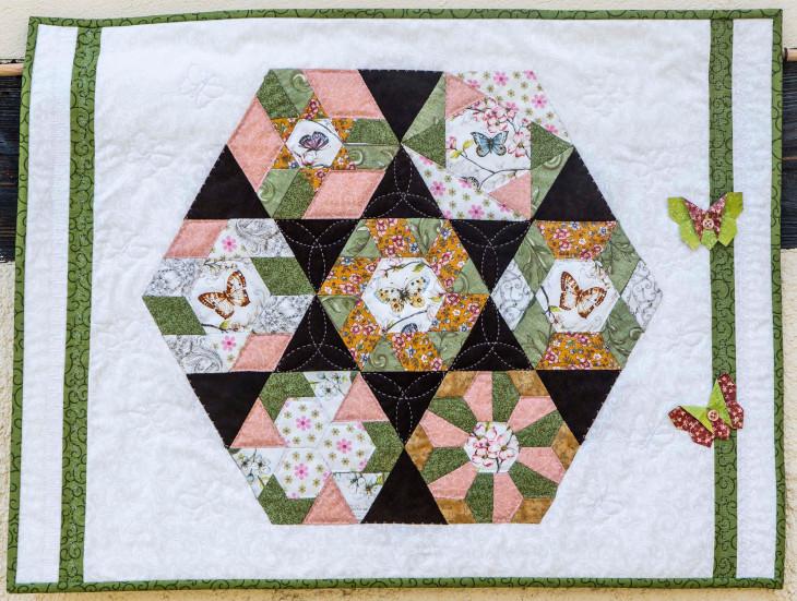 Quilt 4 – Hexagon – Bärbel Schick (Dresden)