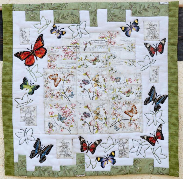 Quilt 5 – Schmetterlinge im Garten – Ingrid Wieland (Berlin)