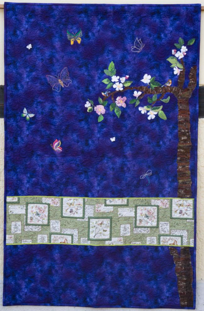 Quilt 7 – Wenn Schmetterlinge fliegen lernen - Diana Baumann (Weischlitz OT Reuth)