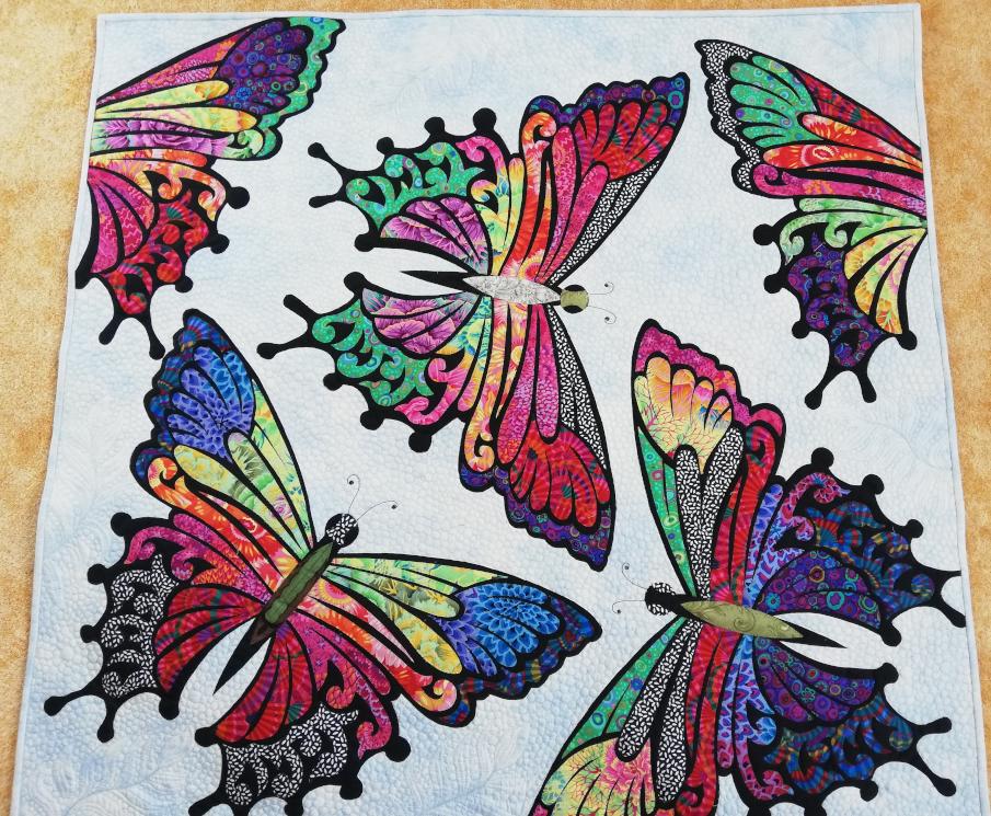 Quilt 19 – Schmetterlingsgeflatter – Susanne Heidenreich (Osternienburger Land)