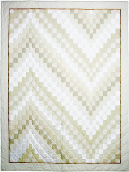 Quilt - Bargello in Naturtönen