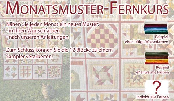 Patchworkversand Handarbeitshaus Gröbern - Monatsmuster-Fernkurs